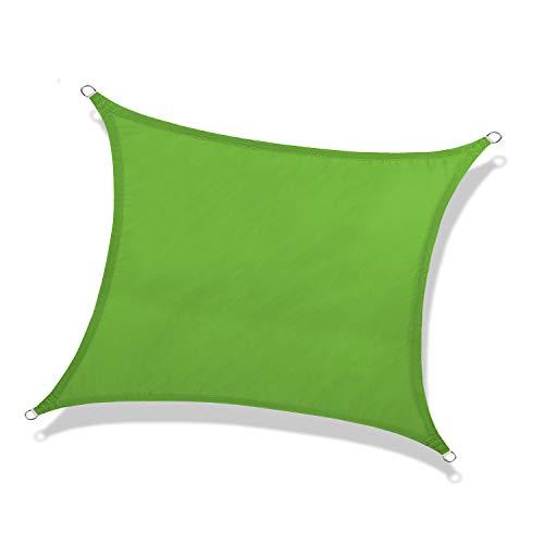 NAKAMORY Sun Shade Sail Waterproof 95% UV Block for Outdoor Garden Patio Backyard (8'×10', Green)