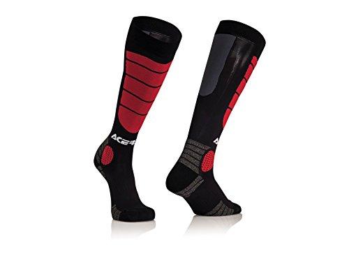 Acerbis MX Impact Sokken - Zwart/Rood 0021633.204.063 Small/Medium Black/Red