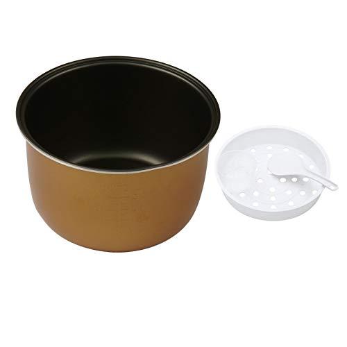 iiniim Olla de Cocción Interior Aleación de Aluminio con Revestimiento Antiadherente con Taza Medidora Espátula y Cuchara Accesorios de Repuesto para Olla Arrocera 3L 4L 5L Negro+Dorado 5L