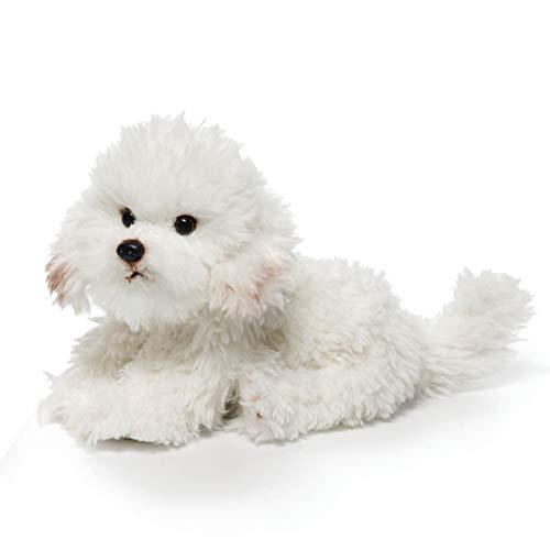DEMDACO Sitting Large Bichon Frise Dog Children's Plush Stuffed Animal Toy