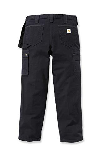 Carhartt Mens Multi Pocket Washed Duck Work Utility Pants, Black, W34/L32