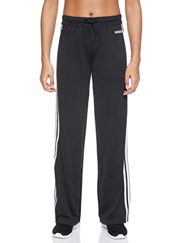 adidas Damen D2M Straight Fitted Knit Trainingshose, Black/White, L