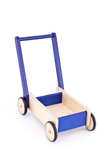 United Kids Lauflernwagen / Laufwagen Tom aus Holz , blau