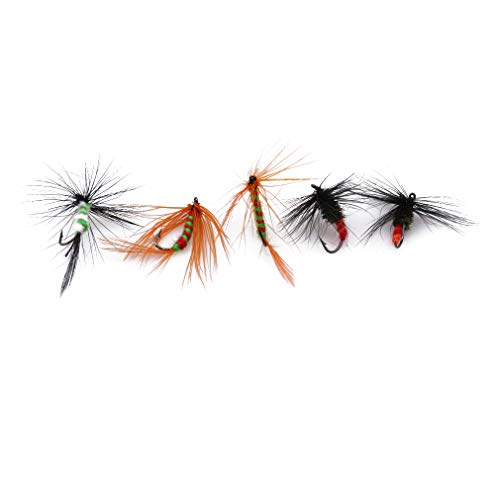 Iumer Fly Fishing Lure Kit 10pcs/box Dry Wet Butterfly Flies for Bass...