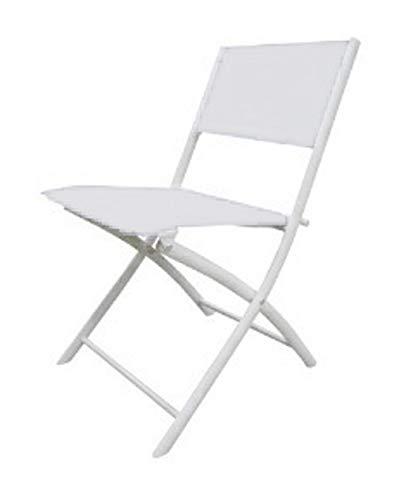 Resol Silla Plegable, Metal, Blanco, 86 x 56,5 x 57 cm