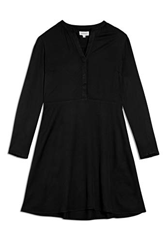 ARMEDANGELS INAARI - Damen Kleid aus LENZING™ ECOVERO™ L Black Dresses Woven, Kleider Web Regular fit
