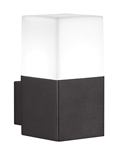 Trio Leuchten LED Außen-Wandleuchte, Aluminiumguss, inklusiv 1 x E14, 4 W, Höhe 17 cm, anthrazit 220060142