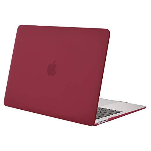 MOSISO Hülle Kompatibel mit MacBook Air 13 2020 2019 2018 Freisetzung A2179 A1932 Retina Display, Plastik Hartschale Case Cover Nur Kompatibel mit MacBook Air 13 Zoll mit Touch ID, Weinrot