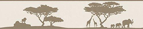A.S. Création 962352 Bordüre African savanna, perlweiß, blassbraun