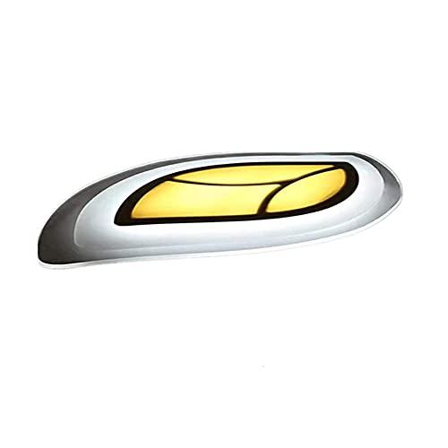 GUOGUOSM Geometría Ultrafina Lámpara De Techo Para Dormitorio Minimalista Moderna Personalidad Creativa Lámpara De Techo LED De Montaje Empotrado En Forma De Hoja Lámpara Con Atenuación De Tre