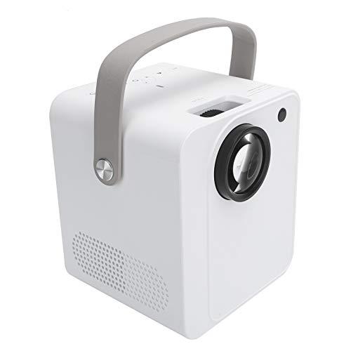 Mini Beamer, Voltaggio 100-240V YJ350A Home Cinema Beamer Videoproiettore Portatile 1080P HD Smart con 30.000 Ore di Durata della Lampada, per Android/Smartphone TV Laptop/Supporto USB(Spina UE)