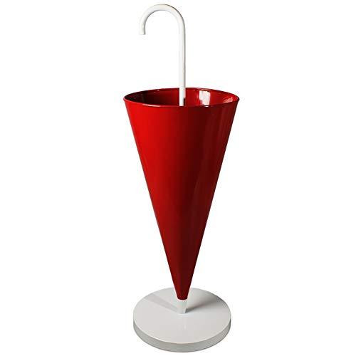 LQQ Paragüero Paragüero Creativo Independiente, Paragüero Cónico De Hierro, para Entrada De Banco De Restaurante De Bar (Color : Red)