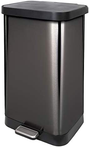 Glad 20 Gallon 75 5 Liter Extra Capacity Stainless Steel Step Trash Can with CloroxTM Odor Protection product image