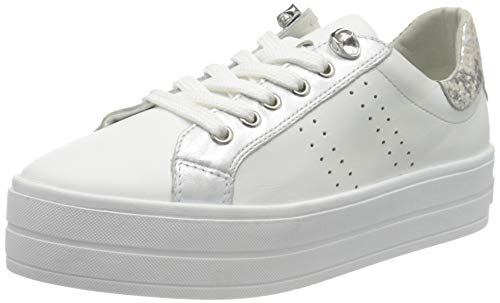 Marco Tozzi 2-2-23768-24, Zapatillas para Mujer, Blanco (White Nappa Core 177), 39 EU