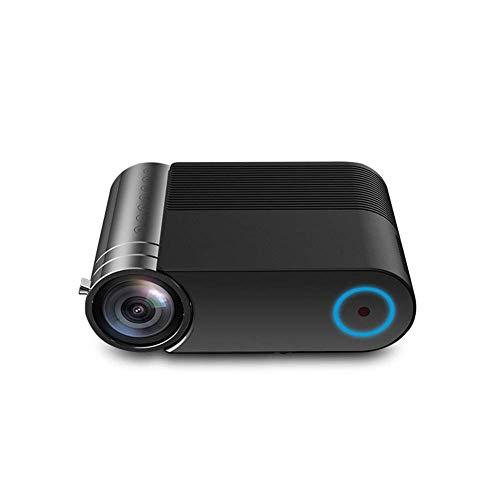 Proyector de vídeo de cine en casa Mini proyector, ayuda HD lleno 1080P, Wifi Wireless Home Entertainment Pequeño Teatro miniatura Android sin rejillas de pared for TV, se puede conectar a teléfonos m