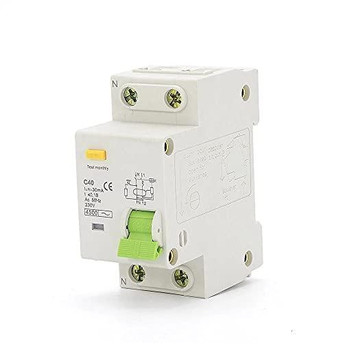 Interruptor de corriente residual 6A 10A 16A 20A 25A 32A 40A 6Za 230V 50Hz / 60Hz con protección contra sobrecorriente y fugas RCBO-32A