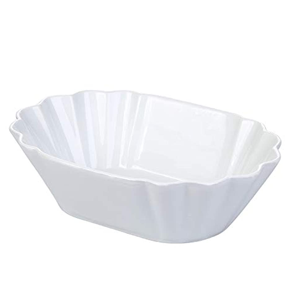 CERSIA/42-oz Porcelain Serving Bowls for Salad/Pasta/Soup/Dessert, 9x6.5x2.5 inches, White