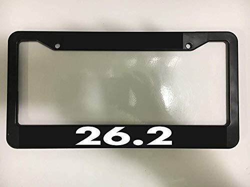 First Rober Aluminum Alloy 26.2 Marathon Miles Long Run Running Exercise Chrome Black License Plate Frame New Holder
