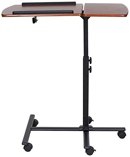OneSpace Angle and Height Adjustable Mobile Laptop Computer Desk, Dual Surface, Cherry