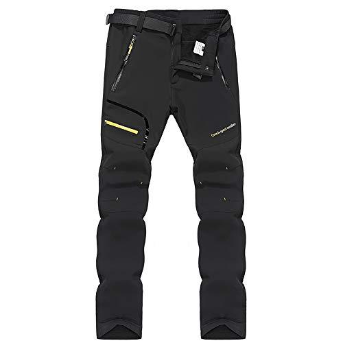SANMIO Pantaloni da Uomo Pantaloni da Trekking Pantaloni Softshell Impermeabili Pantaloni da Esterno Caldi Pantaloni da Trekking Traspiranti Antivento Asciugatura Rapida