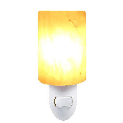 Pkfinrd nachtlampje, 15 watt, draaicilinder, Himalaya zout lamp E14 luchtreiniger kristal zout rok nacht nachtlampje voor slaapkamer