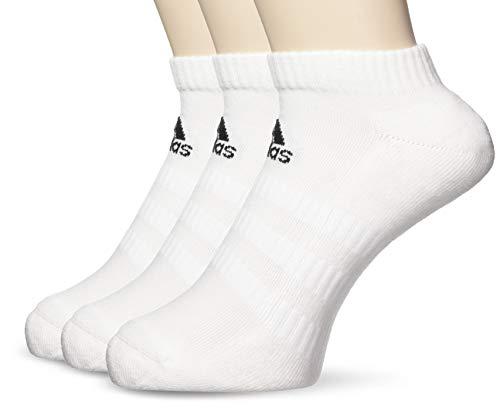 adidas Socken 3 Paar Cush Low No Show, White/White/White, XL, DZ9384