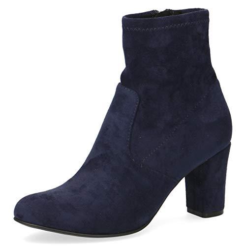 CAPRICE Damen Stiefel, Frauen Ankle Boots, geschäftlich Stiefel halbstiefel Bootie knöchelhoch reißverschluss weiblich,Ocean Stretch,39 EU / 6 UK