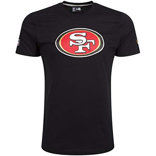 New Era T-Shirt NFL Team Logo Tee San Francisco 49ERS, Uomo, Black, XS