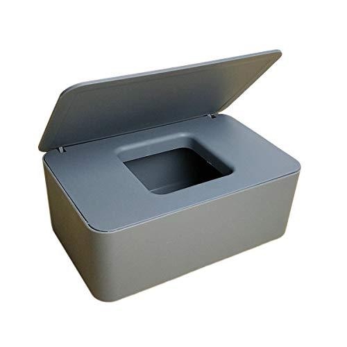 MINASAN Trocken-/Nass-Tissuepapier-Etui, für Baby-Feuchttücher, Servietten-Aufbewahrungsbox, Behälter für Tücher, Zuhause, Zubehör (Grau, 18.5 * 12.2 * 7cm)