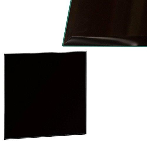 Euro Tische Glasplatte für Kaminofen - Glasscheibe mit 6mm ESG Sicherheitsglas - perfekt geeignet als Funkenschutzplatte - Verschiedene Größen (80x80cm, Schwarz)