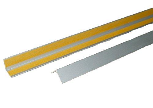Aluminium Winkelprofil Tapetenschutzkante Eckeschutzprofil Kantenschutzprofil silber eloxiert selbstklebend Alu