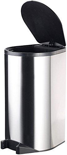 infactory Mülleimer selbstöffnend: Automatik-Abfalleimer aus Edelstahl mit Fuß-Sensor, 30 Liter (Mülleimer mit Sensordeckel)