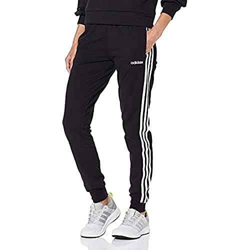 adidas Damen Trainingshose 3-Streifen Single Jersey, Black/White, XS, DP2377