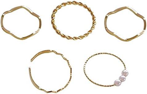 5pcs set Fashion Wave Geometric Party Ring Finger Max 46% OFF Vintage Trust Jewelr
