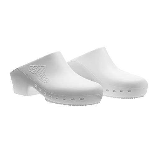 Cascos sanitarios calzuro S Classic con orificios profesionales CE 35-36 Blu Metallizzato