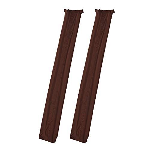 Relaxdays 2 x Zugluftstopper für Tür, beidseitig, Türrolle gegen Zugluft und Kälte, Stoff, Türluftstopper, 90 cm lang, braun