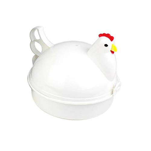 ZYCX123 Pollo en Forma de Vapor, 4 Huevo de microonda, los Huevos, el Pollo en Forma de Vapor, de la Novedad, electrodomésticos de Cocina, Herramientas Home Productos para el Hogar