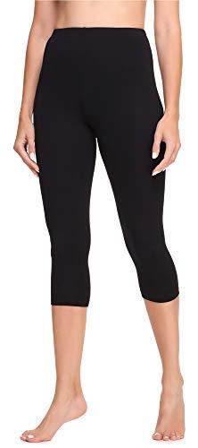 Ladeheid Legging 3/4 Tenue Sport Femme LA40-202(Noir, 38)