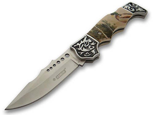 OS4you Wunderschönes 21cm Waidmannsheil Jagd Taschenmesser - Klapp- Faltmesser - Deer Hunter Knife mit Enten Motiv