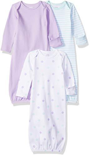Amazon Essentials Baby-Schlafkleider für Mädchen, 3 Stück, Girl Dots, US 0-6M (EU 56-68)