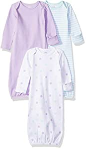 Amazon Essentials - Pack de 3 sacos de dormir de bebé para niña, Girl Dots, US 0-6M (EU 56-68)