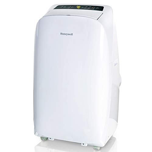 Honeywell 14000 Btu Portable Air Conditioner with Heat 4 in 1 Multi-Functional, Dehumidifier & Fan for Rooms Up to 550-700 Sq. Ft with Remote Control, HL14CHESWW