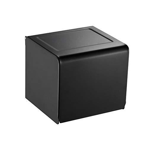 ZHPBHD Punch Black Black Black Waterproof Rotolo di Carta Roll Porta Carta Tissue Box Carta Asciugamani Portabicchieri Bagno (Size : A)