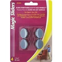 Magic Sliders 04301 1-3/16-Inch Furniture Glide Round Nail On Sliding Disc 4 count by Magic Sliders