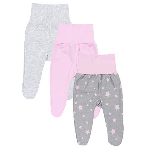 TupTam Baby Mädchen Strampelhose mit Fuß 3er Pack, Farbe: Farbenmix 2, Größe: 56