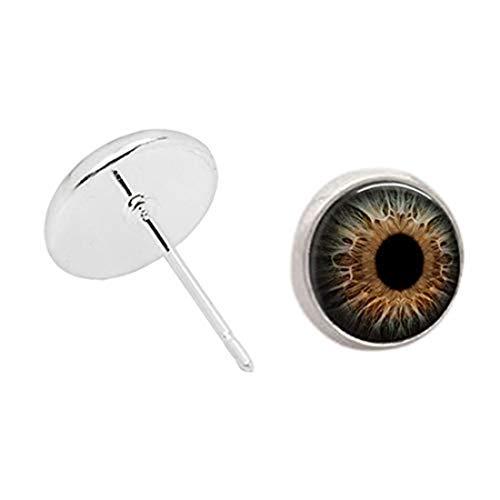 Handmade accessories Kakupao - Pendientes de ojo de cristal, ojo de gato, ojo de dragón