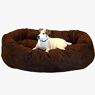 Slatters Be Royal Store Round Shape Reversable Dual Ultra Soft Ethnic Velvet Bed for Dog/Cat (Brown, XL)