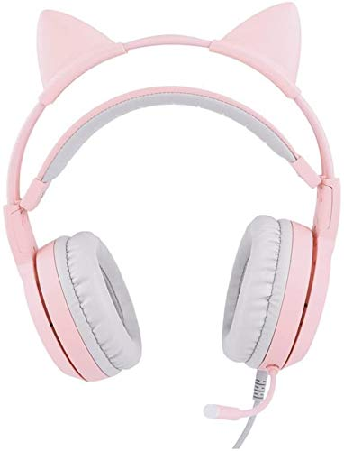 FHW Game headset for PS4 Xbox één PC, Pink 7.1 surround kanaal Electric concurrentie headset leuke computer telefoon live-decoreren microfoon koptelefoon