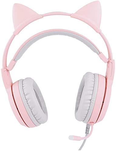 Headset FHW Casque de Jeu for Xbox PS4 Un PC, Rose Surround 7.1 canaux Casque compétition électrique Mignon téléphone Ordinateur Microphone décoration en Direct Casque à écouteurs