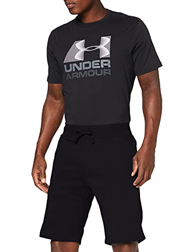 Under Armour UA HG Armour Shorts, kurze Laufhose, atmungsaktive Herrenshorts Herren, Black / White, M